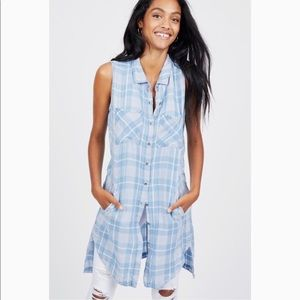 Billy T | Girlfriend Plaid Button Up Tunic